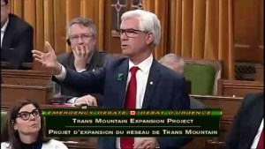 Minister argues Trans Mountain has policies opposition should agree with during emergency debate